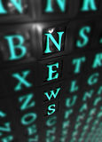 News. Word isolate with 3d words Stock Image