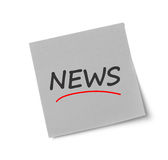 News adhesive note Royalty Free Stock Images