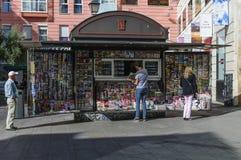 News agent kiosk in Madrid Stock Photos