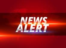News alert concept graphic design for tv news channels. Illustration royalty free illustration