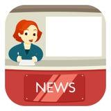 News Anchor on Air Stock Photography