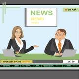 News anchor man and woman header TV Royalty Free Stock Photos