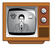 News on ancient television. Vector News on ancient television Vector Illustration
