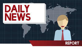 Daily News Announcement Communication Report Concept Stock Image