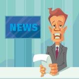 News announcer cartoon Royalty Free Stock Photos