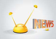News and antenna Royalty Free Stock Image