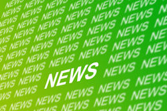 News background. Green background for announcing important news and information Stock Photography