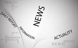 News background. Typography background with news words on white background Stock Photo