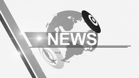 News background generic 4K colorless stock video