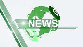 News background generic 4K green stock video
