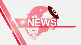 News background generic 4K red stock video footage