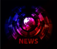 News background with globe Stock Photography