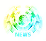 News background with globe Royalty Free Stock Photo