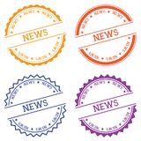 News badge isolated on white background. Flat style round label with text. Circular emblem vector illustration Royalty Free Stock Photos