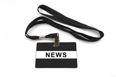 News badge on white background Stock Image