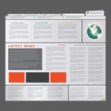 News blog. Editable web site template, News blog Royalty Free Stock Image