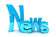 News. In blue 3D text Royalty Free Stock Photos