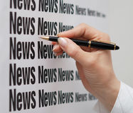News on board Royalty Free Stock Image