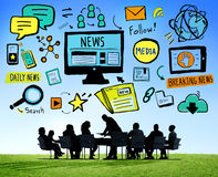 News Breaking News Daily News Follow Media Searching Concept Royalty Free Stock Photos