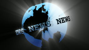 News Broadcast Globe Seamless stock footage