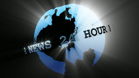 News Broadcast Globe Seamless 3 stock video footage