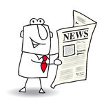 News. This businessman read a newspaper Royalty Free Stock Images