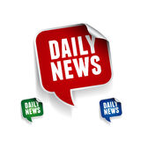 News button -  illustration Stock Photos