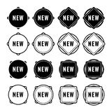News buttons. Simple and minimalism vector shapes Royalty Free Stock Photos