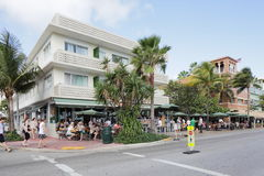 News Cafe Miami Beach Stock Image
