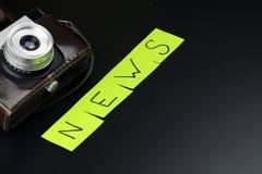 News camera journalism Stock Photography