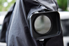 News camera with rain cover on Royalty Free Stock Image