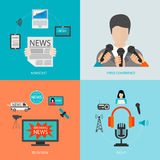 News cast journalism television radio concept Royalty Free Stock Photos