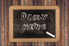 Daily news - chalkboard Royalty Free Stock Photography