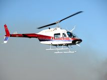 News Chopper. Local TV News Helicopter, Perth, Western Australia stock photo