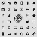 News in the circle of the earth icon. Detailed set of minimalistic icons. Premium graphic design. One of the collection icons for. Websites, web design, mobile Stock Photography