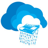 News from the Cloud stock illustration