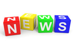 NEWS colorful cubes. Stock Photography