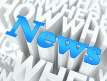 News Concept. Royalty Free Stock Photography