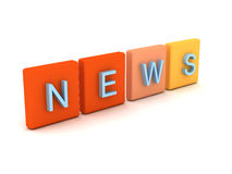 News concept. A 3d concept of news Royalty Free Illustration