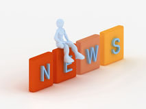 News concept Stock Photography