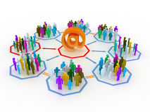 News concept. People connected to other people via internet Vector Illustration
