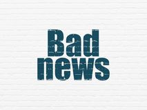 News concept: Bad News on wall background Royalty Free Stock Images