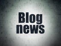 News concept: Blog News on Digital Data Paper background. News concept: Painted black word Blog News on Digital Data Paper background Stock Image