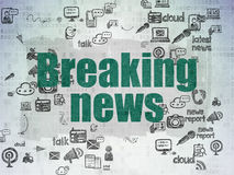 News concept: Breaking News on Digital Paper Stock Image