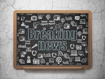 News concept: Breaking News on School Board Royalty Free Stock Photos