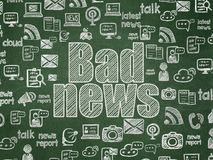 News concept: Bad News on School board background Stock Image