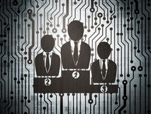 News concept: circuit board with Business Team Royalty Free Stock Photography