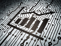 News concept: circuit board with Growth Graph Royalty Free Stock Photos