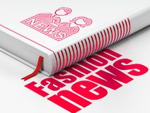 News concept: book Anchorman, Fashion News on white background Stock Photography