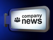 News concept: Company News and Business People on billboard background. News concept: Company News and Business People on advertising billboard background, 3D Royalty Free Stock Photo